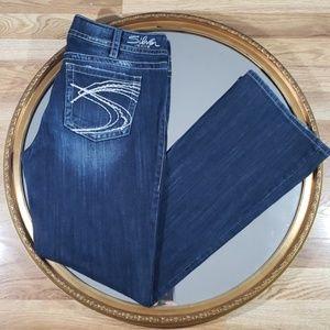 Silver SUKI BOOTCUT White Stitch Jeans Size 33